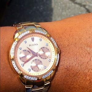 BULOVA Rose Gold women's watch with diamonds
